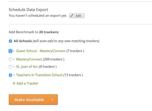 Benchmark select schools