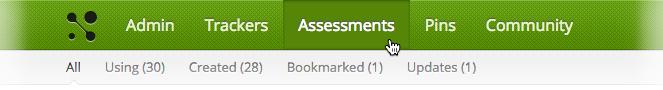 Assessments Navigation Bar