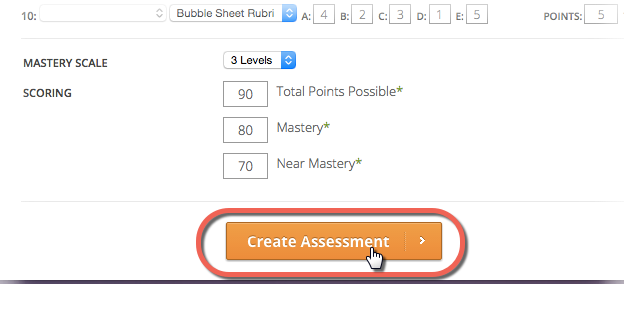 Create Assessment Icon