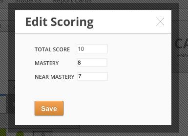 Edit scoring