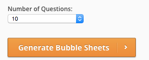 Generate Bubble Sheets Button