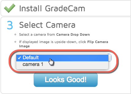 GradeCam Troubleshoot Compatible Camera