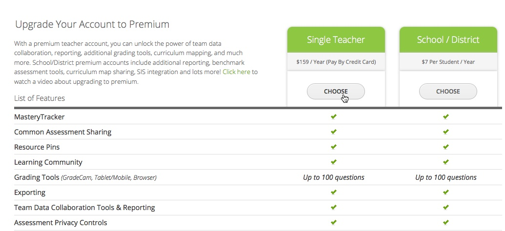 Single Teacher Premium Account