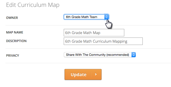 Change Curriculum map owner