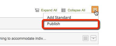 Publish custom standard