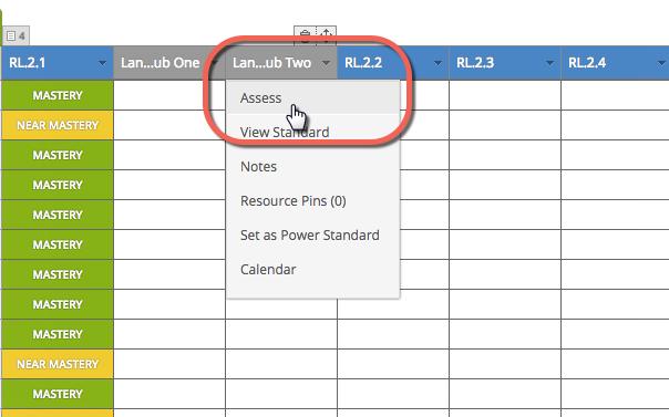 Tracker Sub Standard Assess