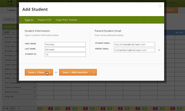 add student info
