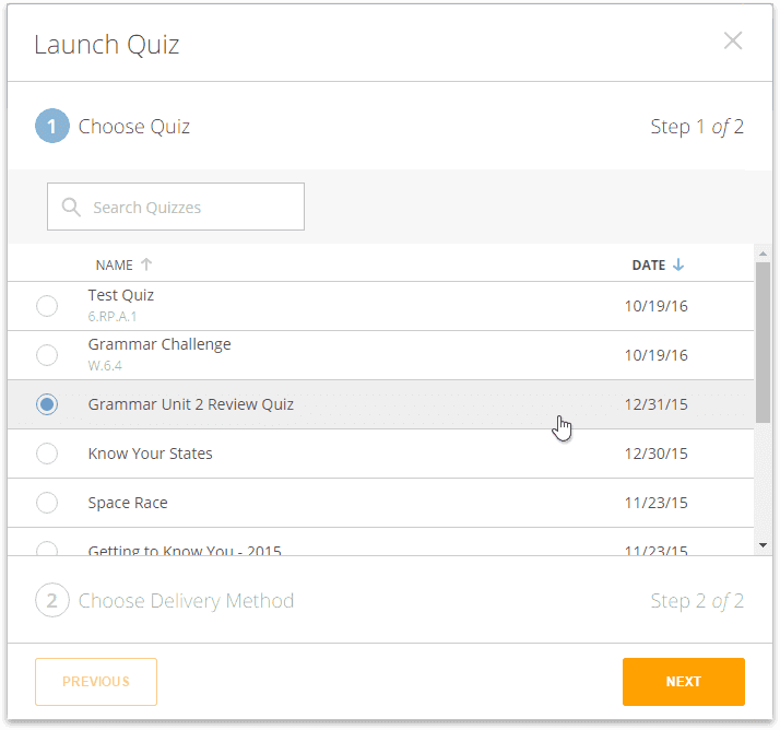 Start a quiz socrative help center select the quiz you want to run ccuart Gallery